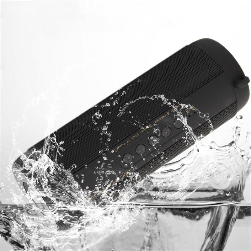 T2 Outdoor Waterproof Super Bass Column Bluetooth Speaker Mini Portable Wireless Column Loudspeakers Speakers for IPhone Samsung