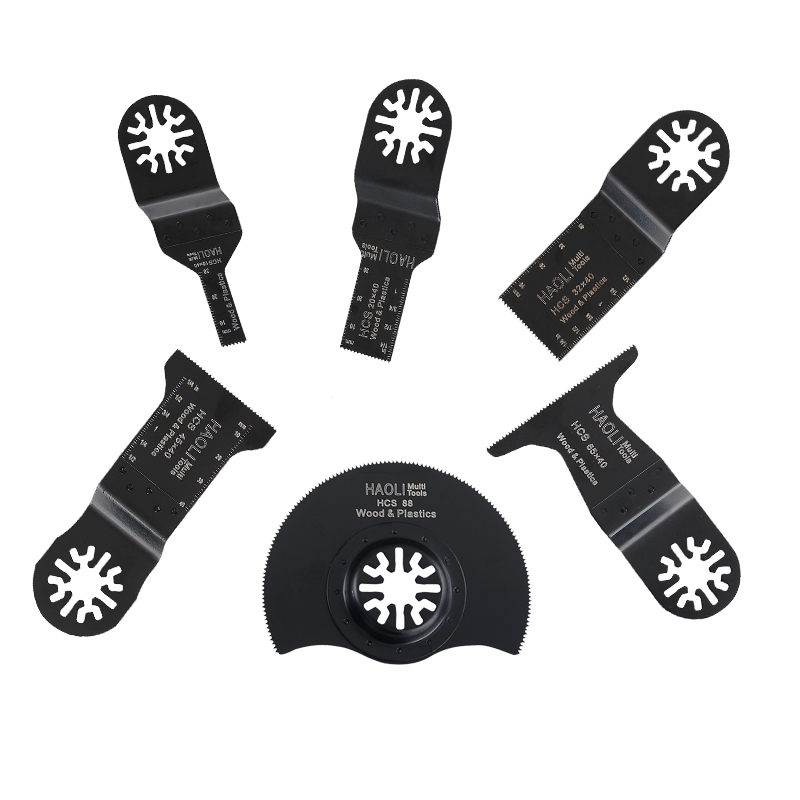 6 Pcs/set Oscillation Multitool Fein Multi-tool For Bosch Dremel TCH Renovador 10+ 20 + 32 + 45 + 65 + 88mm