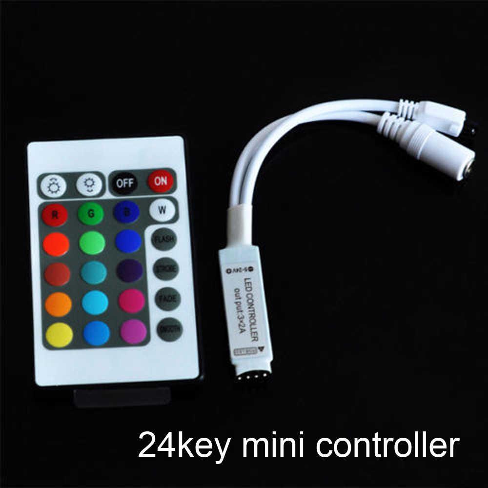 Постоянный ток 12-24 V RGB IR RF Беспроводной диммер с удаленным управлением + контрольная полоса коробка для RGB SMD 3528 5050 3014 Светодиодный светодиодные ленты