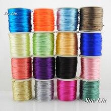 1 мм 48-Цвет Rattail атласный шнур китайский узел Бисер шнур для маленьких Силиконовый грызунок Цепочки и ожерелья: нейлон 80yd катушки NCN7S