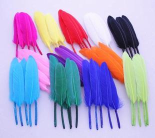 Горячая Распродажа 500 шт./лот, на стопу длиной от 10 до 15 см натуральный Кряква перья из крыльев утка cochottes