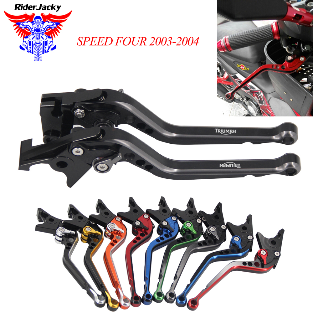 Mix Color Long CNC Adjustable Motorcycle Brake Clutch Levers For Triumph SPEED FOUR 2003-2004