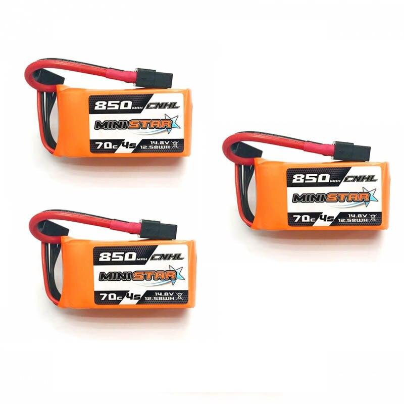 1 /2 / 3PCS CNHL MiniStar 850mAh 14.8V 4S 70C Lipo Battery XT60 Plug For RC Drone FPV Racing Multicopter Frame DIY Part Accs