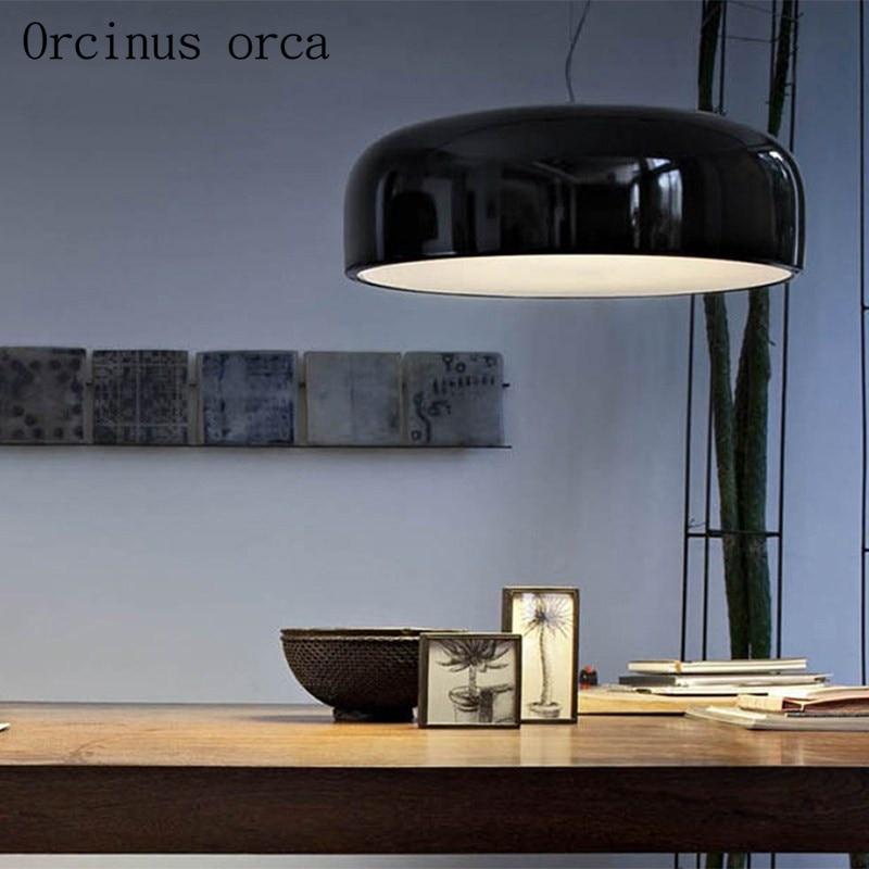Nordic Creative Personality Single Head Pan Cover Pendant Lamp Art Modern Brief Restaurant Lamp Free Shipping