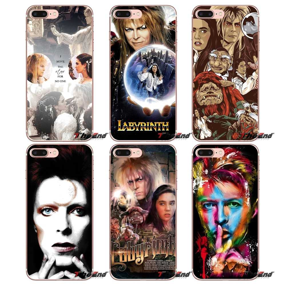 Untuk Samsung Galaxy S2 S3 S4 S5 Mini S6 S7 Edge S8 S9 Plus Note 2 3 4 5 8 coque Fundas David Bowie Labyrinth Of Magic Soft Case