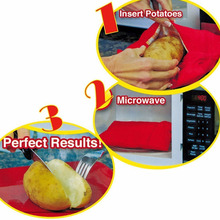 2018 Hot Red Microwave Potato Quick Cooking Bag (one Can Cook 4 Potatoes At A time)