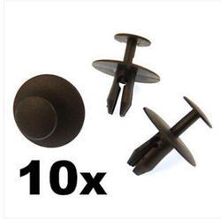 10x для Citroen Пластик заклепки Зажимы-Trim Зажимы Крепежи для капота, бампер, решетка радиатора