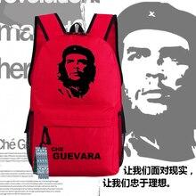 Che Guevaraผู้นำโปสเตอร์Deamerกระเป๋าเป้สะพายหลังUnisexผ้าใบนักเรียนกระเป๋าของขวัญคุณ 45x32x14cm