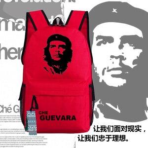 Image 1 - Che Guevara lider plakat Deamer torba plecaki płótna Unisex torby na ramię dla ucznia ty prezenty 45x32x14cm
