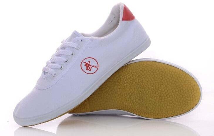 Eerlijkheid Unisex Canvas Practise Vechtsport Tai Chi Schoenen Kung Fu Wushu Sneaker Taekwondo Jeet Kune Schoenen Wit