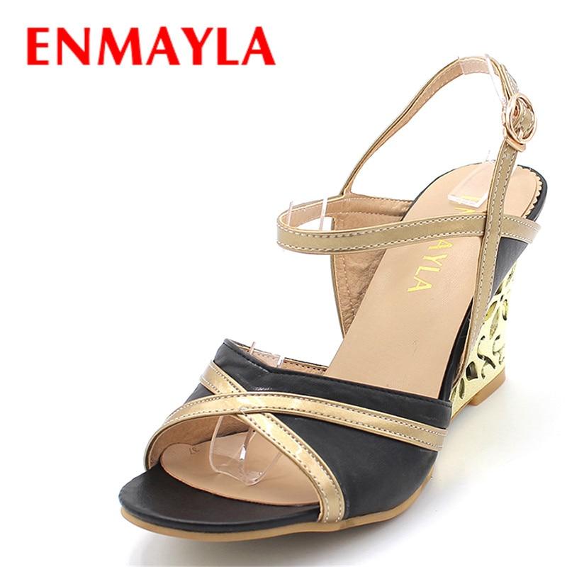 ENMAYLA Wedadrat e reja të modës Sandalet me takë të lartë Gratë sandale me rrip të këmbës