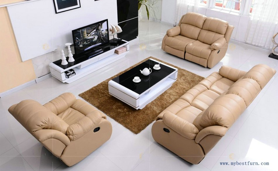 First Class Sofa Modern Design 1 2 3 Sectional Sofas Reclining Chair With  Shake Retation Function Genuine Leather Recliners in Living Room from