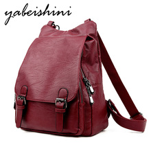 Shoulder bags for women 2019woman backpack Women's leather backpack Lady travel backpack Sac a Dos school bags for teenage girls недорого