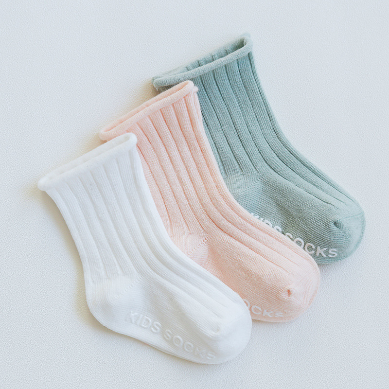 0-5Y 3Pair Solid color baby socks Cotton Fashion Cute Unisex Baby Newborn Fresh Candy Color infant Socks