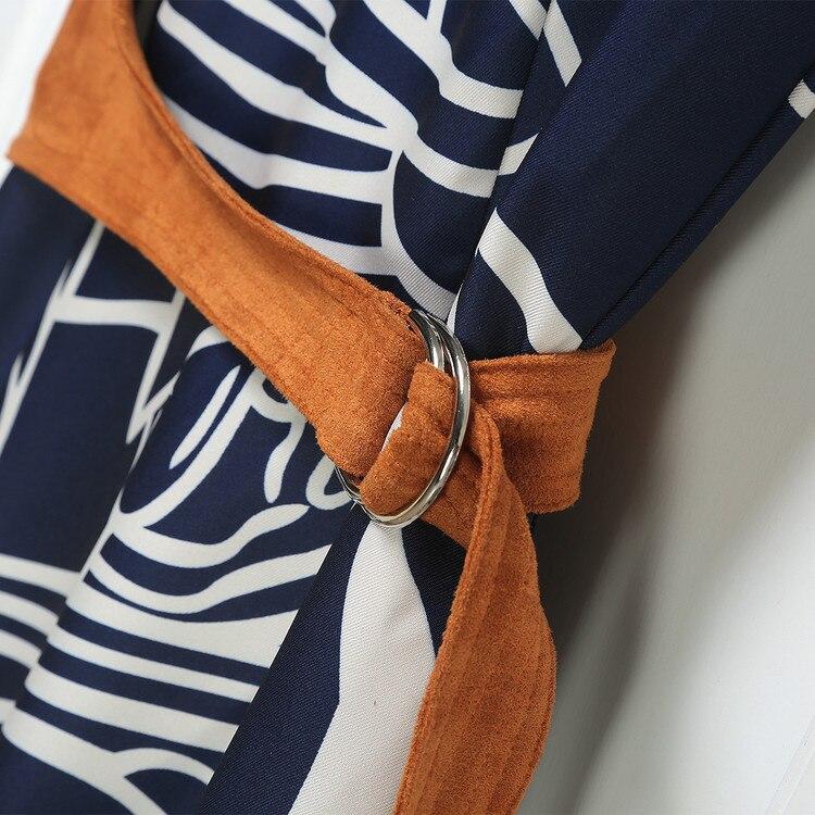2018 Laciness Sans Mode D'été Daim Robe Nouvelle Arrivée Imprimer Patchwork Femmes Manches Slim 6xwYwqEnP