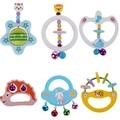 Lindo Animal Handbells Juguete de Desarrollo Musical Rattle Cama Para Niños de Madera de Juguete Educativo para niños Instrumento Musical de Juguete