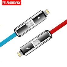 Remax Двойной Сторона USB Глав Micro-USB iOS Мобильный Телефон Кабель Кабель для передачи данных Зарядный Кабель Fast Charge Кабель Для iOS Android телефон