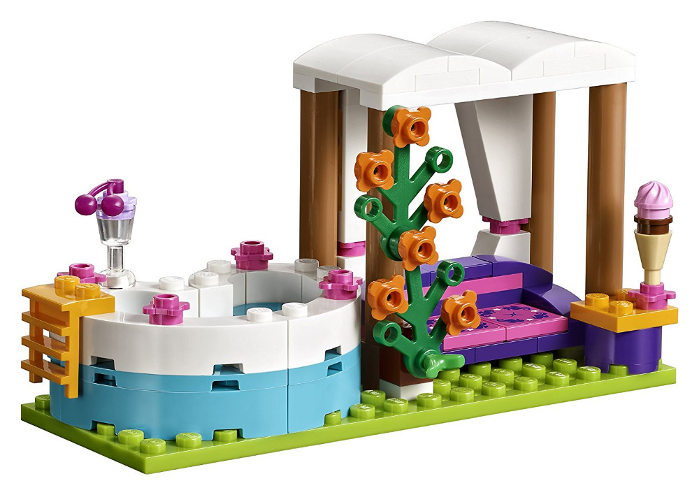 Lepin 01013 Friends 589pcs Building Blocks toy Heart Lake City Summer swimming pool kids Bricks toys girl gifts