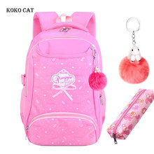 Teenagers School Bags Waterproof Backpack Lightweight Large Capacity Children Rucksack Orthopedic Satchel For Girls Mochila недорого