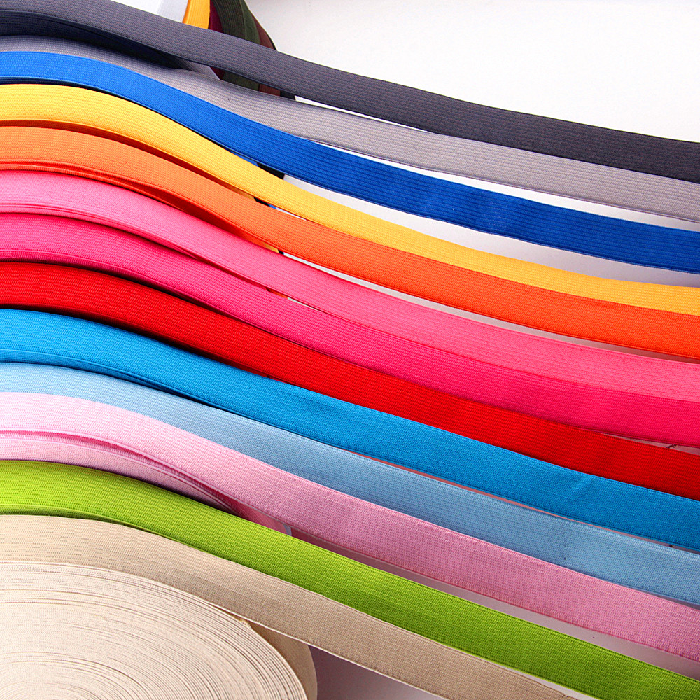 Colored Elastic Bands 2cm 5m Flat Sewing Rubber Band For Underwear Pants Bra Rubber Clothes Decorative Soft Waistband