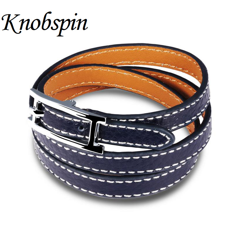 Lover's  jewelry multilayer leather bracelet Adjustable size bracelets & bangles pulseiras wholesale Lovers pulseras Best gifts