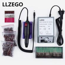 전기 네일 아트 드릴 머신 20000RPM 매니큐어 기계 네일 폴리 셔 아트 장비 + 30pcs 네일 드릴 비트 + 150pcs 샌딩