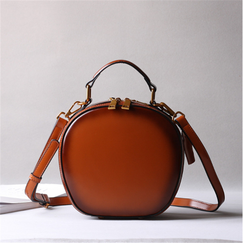 B0188 Famous Brand Vintage Women Genuine Leather Handbags Ladies Party Shoulder Crossbody Bags Fashion Designer Female Mini