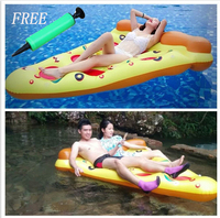 Inflatable Pizza Swimming Floats 150*180cm Swimming Floats Water Donut Pool Toys Swim Ring For Fun Adult Air Mattress