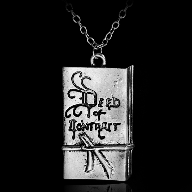 LOTR BILBO BAGGINS Deed of Contract Pendent Necklace Silver