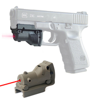 Hunting Optics Sight Tactical Red Laser Sight Mini Military Pistol Gun Under mounted Laser Sight For 20mm Rail