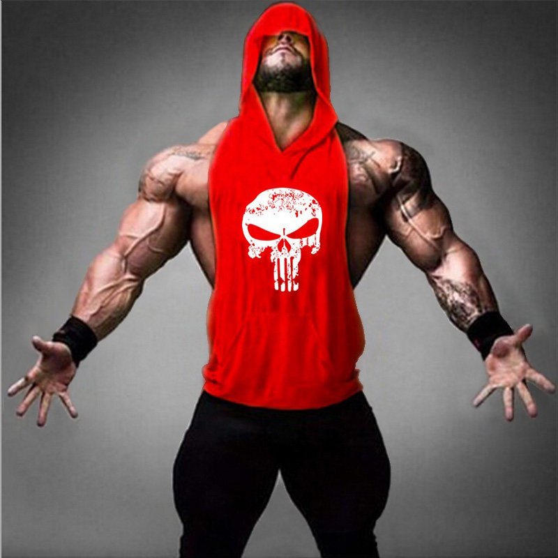 Powerhouse Clothing Fitness Punisher   Tank     Top   Men Stringer Golds Bodybuilding Muscle Shirt Workout Vests gyms Undershirt Singlet