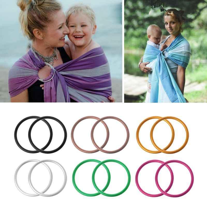 2 ชิ้น/เซ็ตผู้ให้บริการทารกอลูมิเนียมเด็กสลิงแหวนสำหรับทารกและสลิงคุณภาพสูงผู้ให้บริการทารกอุปกรณ์เสริม