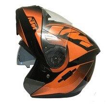 Новый Ktm Анфас Мотоцикл Двойным Козырьком Флип Шлем Мужчины Гонки Шлем Cascos Moto Capacete Motocicleta Dot Утвержденных