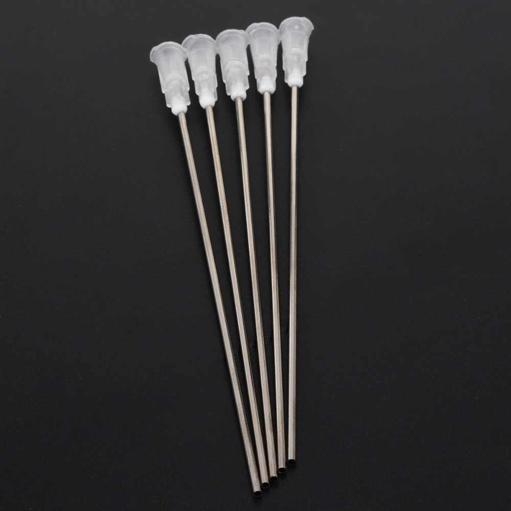 "5pcs Blunt Syringe Needle Tips  4"" 14Ga Blunt Dispensing Adhesive Stainless Steel Syringe Needle Tips For Liquid"