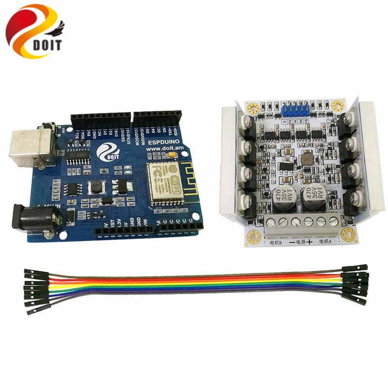 DOIT ESPduino WiFi Development Board Kit Compatible with Arduino for Control 2wd/4wd Robot Tank Car Toy modules genuine for intel galileo gen 2 development board quark soc x1000 400mhz 256m compatible with arduino uno r3 shield