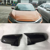 Carbon fiber rearview mirror cover car body kit for Honda civic 2016 2017 Free shipping