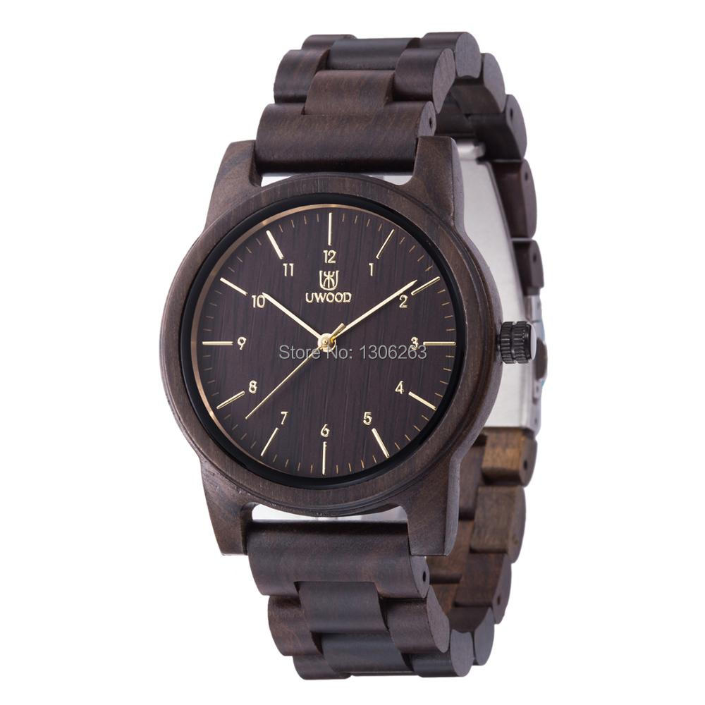 Drop Shipping Men Women Dress Watch Business Casual Designer Wood Watch Clock In Cheap Price