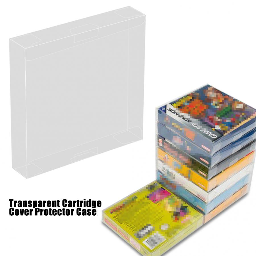 10pcs Transparent Cartridge Protective Case Cover Protector Case For Nintendo Game Boy GBA Boxed Game