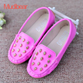 New Style Children's Peas Shoes Spring Single Shoes For Girls Top Quality Kids Cute Baby Casual Rivets Flat Shoe EU Size 21-30