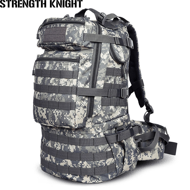 Military Army Backpack 50L Nylon Water-proof Camp Hike Camouflage Backpacks Large-capacity Men Bag X103 swyivy 50l military army bag high quality waterproof nylon camouflage backpacks trekking 3p tactical backpack men s sports bag