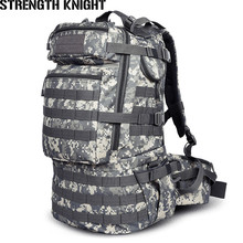 Military Army Backpack 50L Nylon Water-proof Camp Hike Camouflage Backpacks Large-capacity Men Bag X103