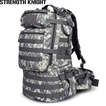 Military Army Backpack 50L Nylon Water-proof Camp Hike Camouflage Backpacks Large-capacity Men Bag X103 best large 50l professional cr system climb backpack travel camp equipment hike gear trekking rucksack for men women
