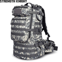 Military Army Backpack 50L Nylon Water proof Camp Hike Camouflage Backpacks Large capacity Men Bag X103