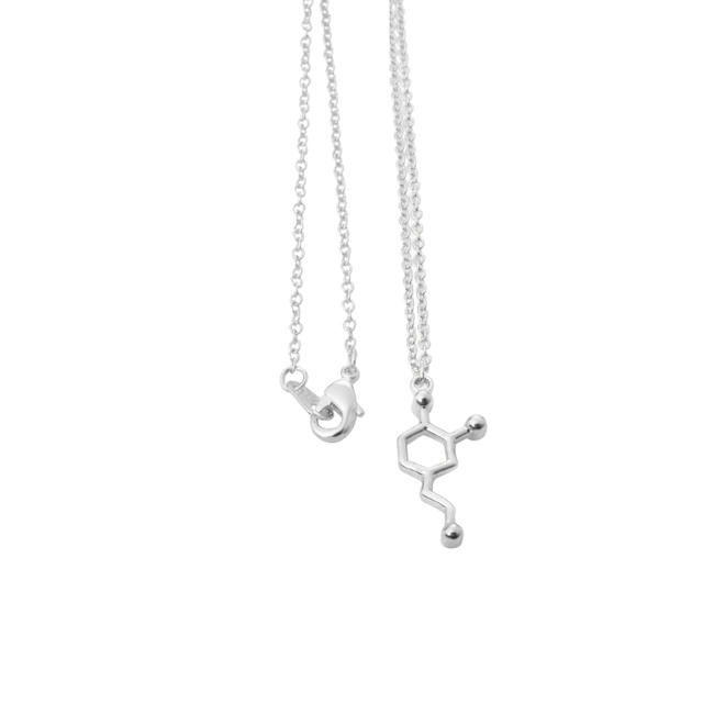 New Fashion Acetylcholine Molecular Necklace Molecule Science Chemical Jewelry Eternal Memory Necklace Birthday Gift XL139
