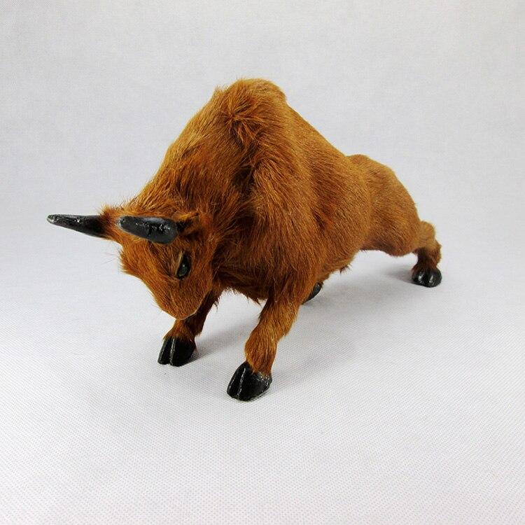Творческий моделирование игрушка бык подражать желтый крупного рогатого скота кукла подарок О 31x9x16 см