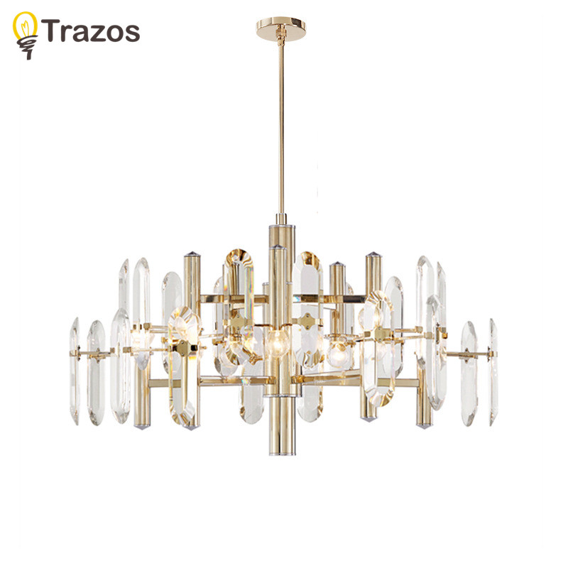 Art Deco Crystal Chandelier Living Room lustres de cristal Decoration Tiffany Pendants and Chandeliers Home Lighting Indoor Lamp modern crystal chandelier light living room decoration crystal pendants and chandeliers home lighting indoor lamp e14 led candle