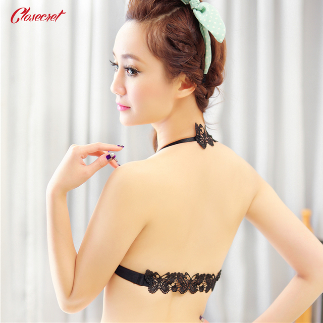 2016 Women's Fashion Sexy Lingerie Hot Front Closure Bra for Women Plunge Brassiere with Charming Back Straps