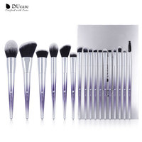 DUcare 17pcs Professional Makeup Brushes Powder Foundation Eye Shadow Blush Eyebrow Makeup Brush Set Cosmetic Make