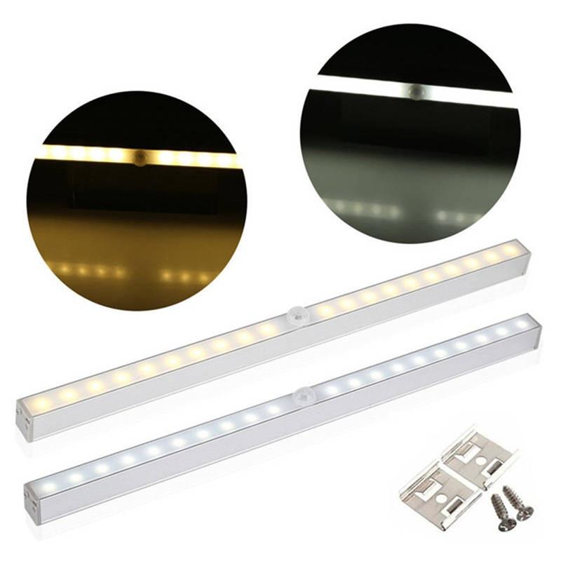 PIR Motion Sensor Light 20LED Night Light With Motion Sensor Closet Light Auto/On/Off Battery Power For Cabinet Wardrobe Kitchen