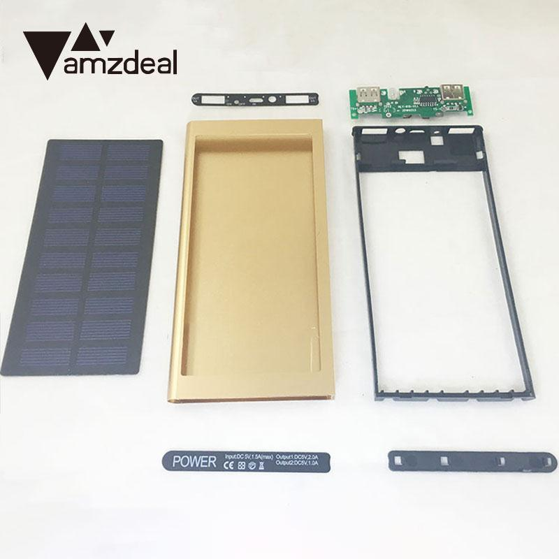 Tablet Accessories Amzdeal Ultra Thin Solar Charging Panel External Battery Charger Dual Usb Power Bank Diy Assembly Set Portable New To Adopt Advanced Technology